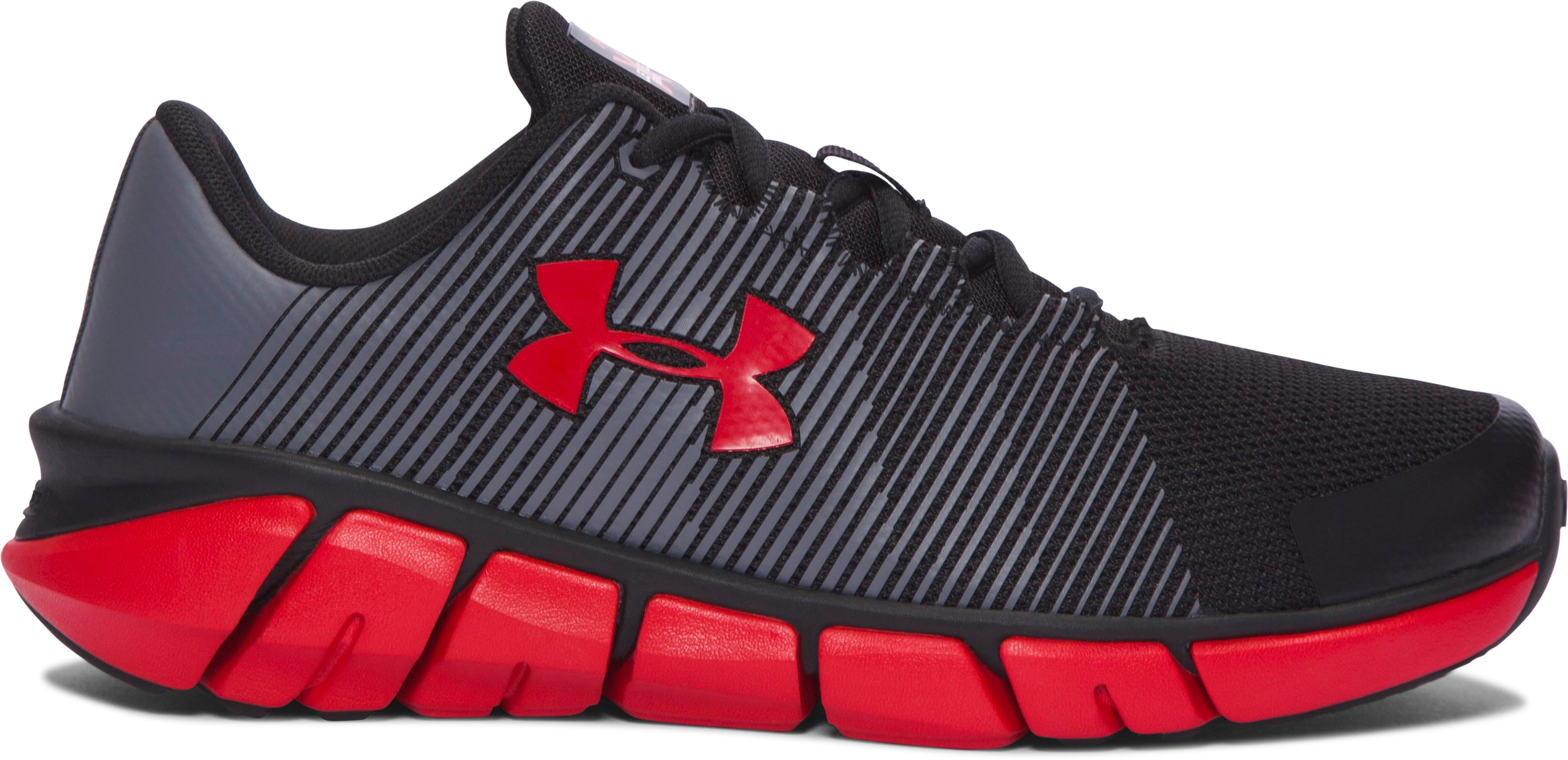 Boys' Grade School UA X Level Scramjet Running Shoes, Black , undefined