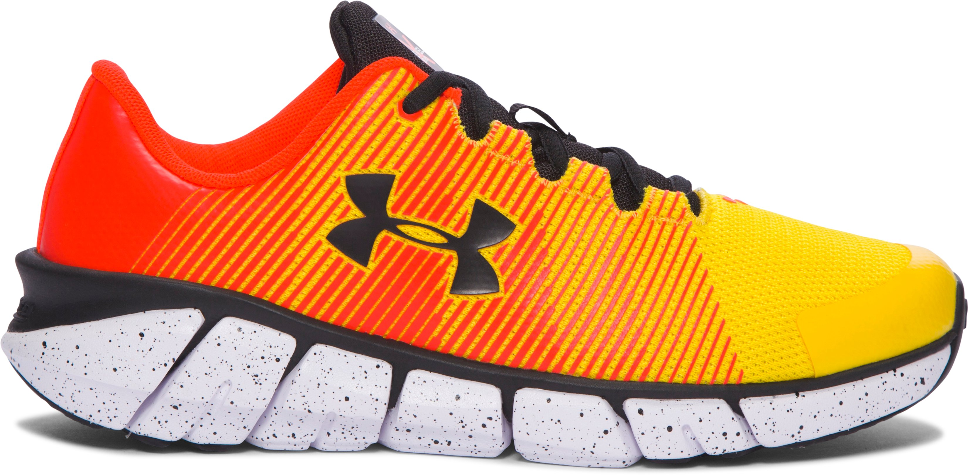 Boys' Grade School UA X Level Scramjet Running Shoes, Taxi,