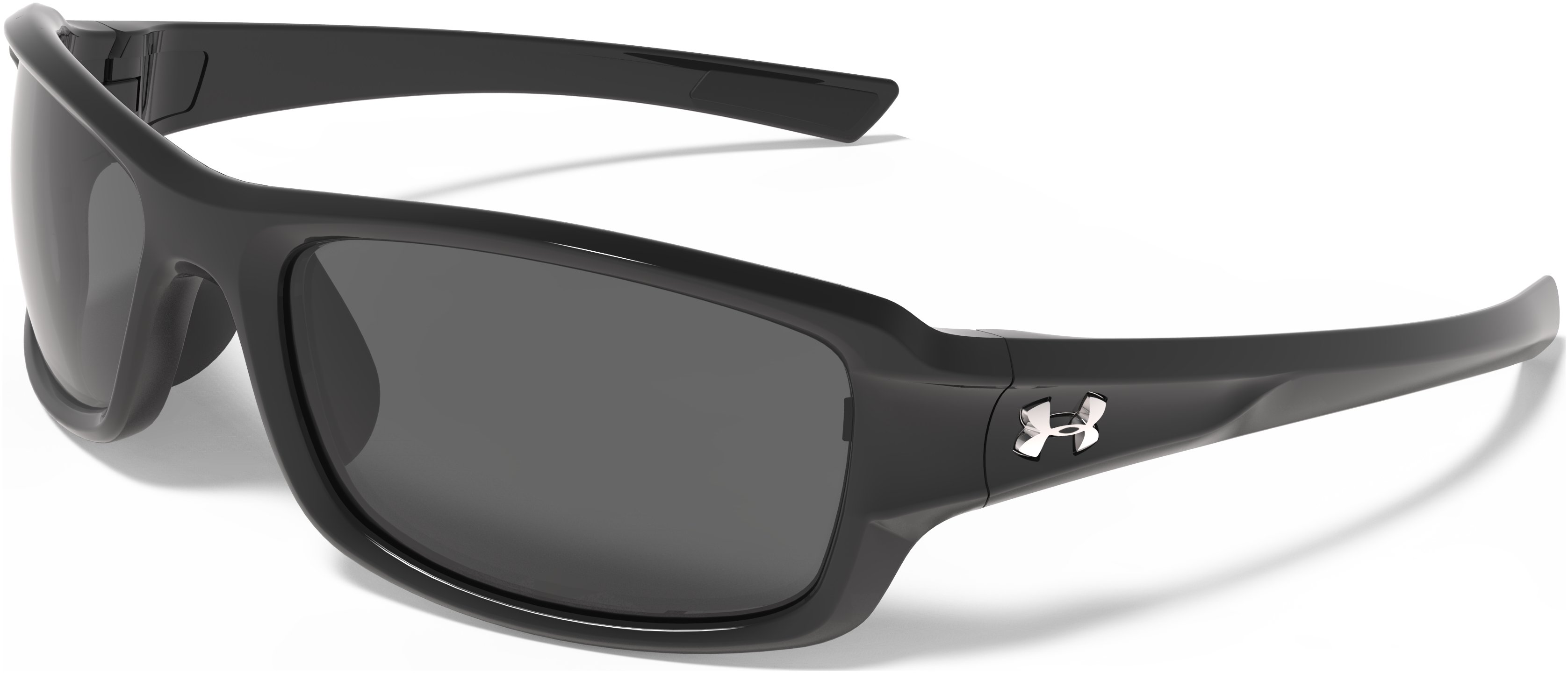 UA Edge Sunglasses, Shiny Black, zoomed image