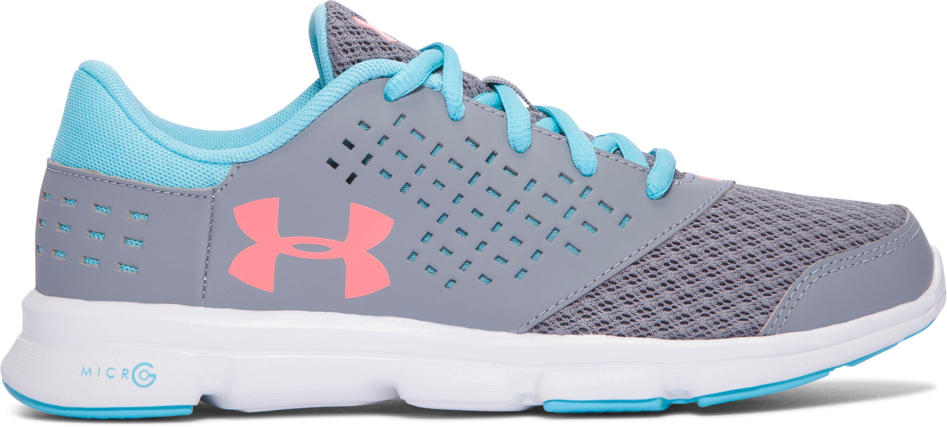 Zapatos de Running UA Micro G® Rave para Niña de Primaria, 360 degree view