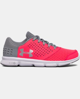 New to Outlet Girls' Grade School UA Micro G® Rave Running Shoes LIMITED TIME OFFER  $41.24