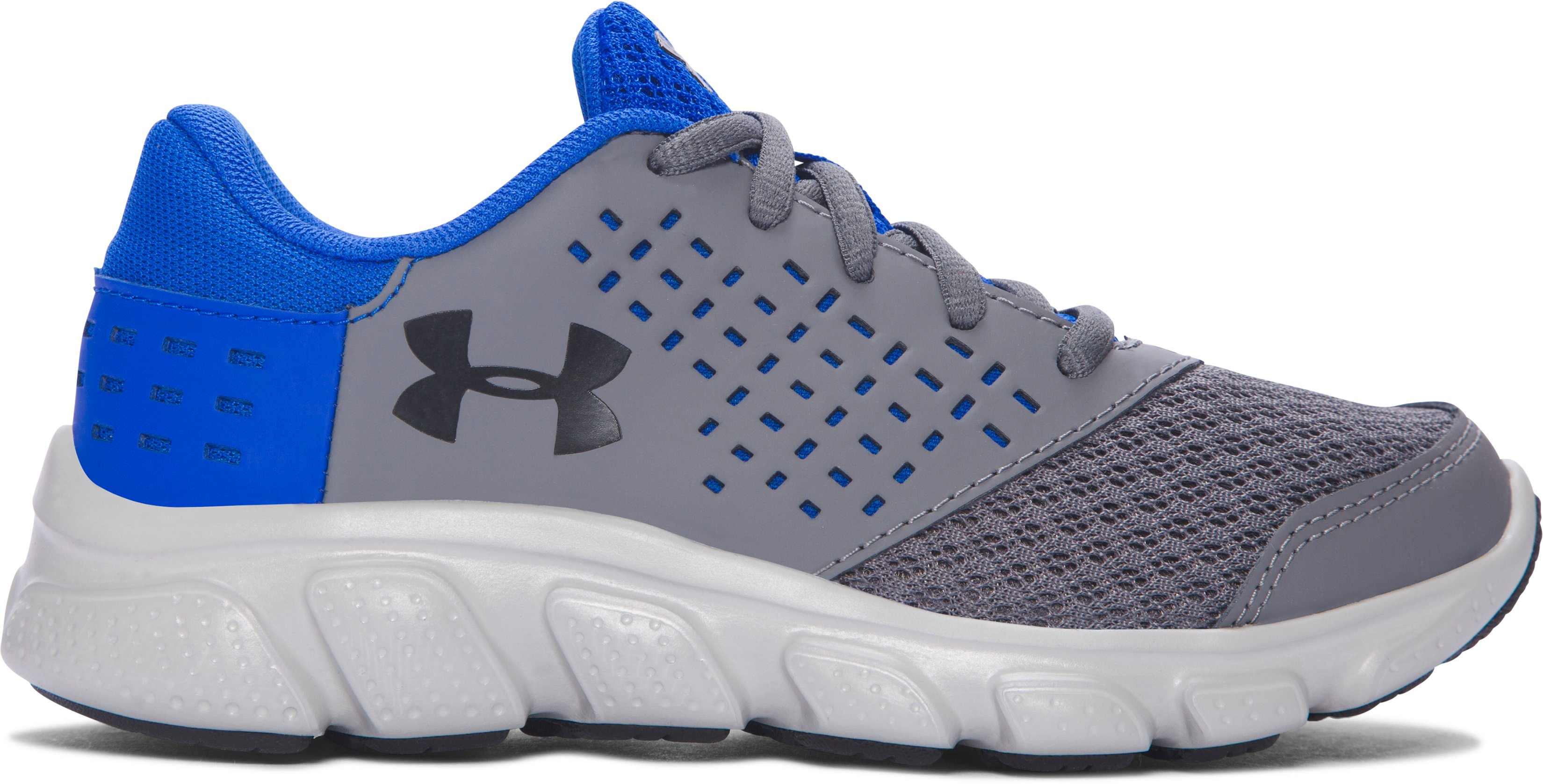 Boys' Pre-School UA Rave Running Shoes, Graphite, zoomed image