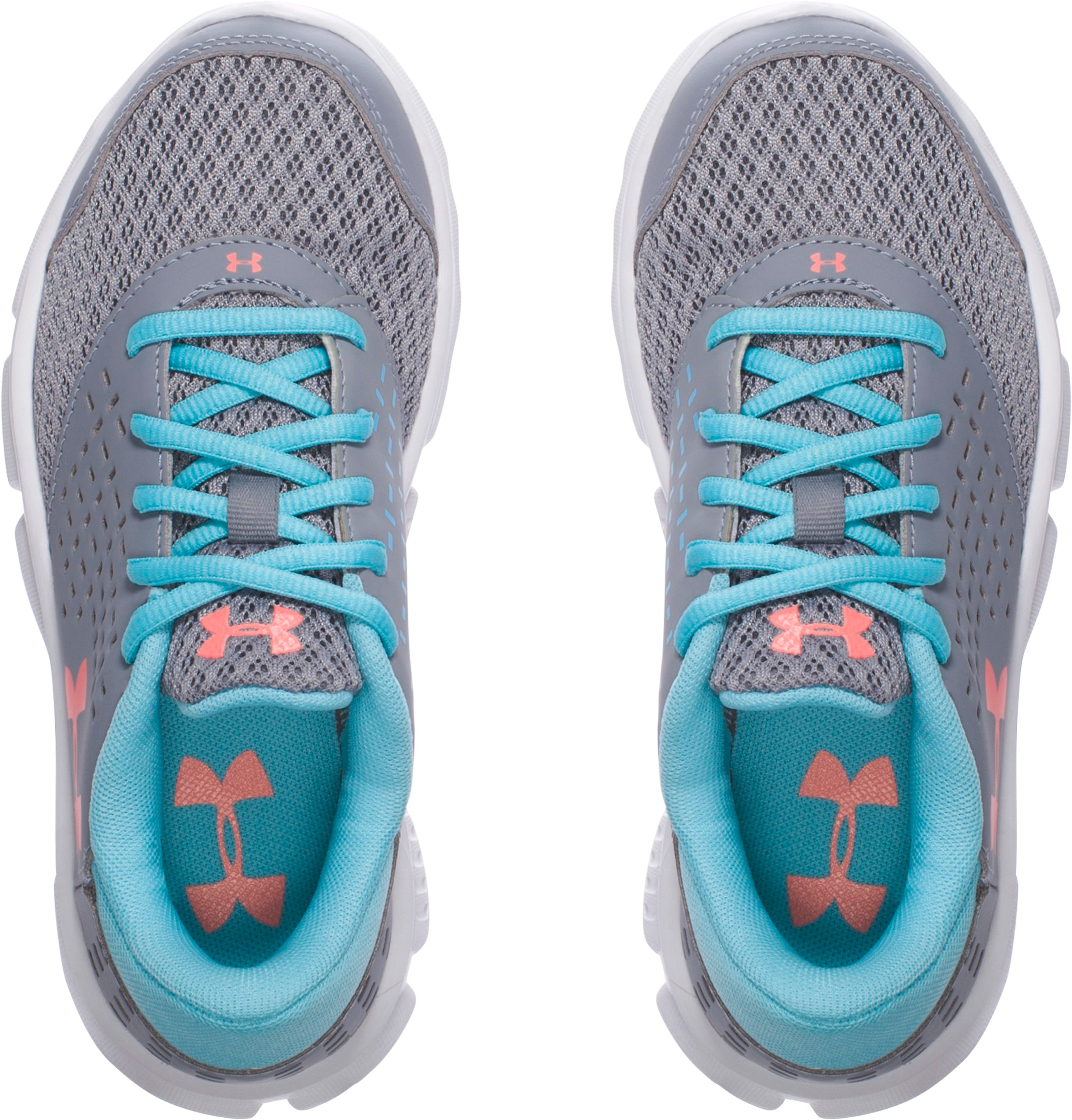 Girls' Pre-School UA Rave Running Shoes, Steel, undefined