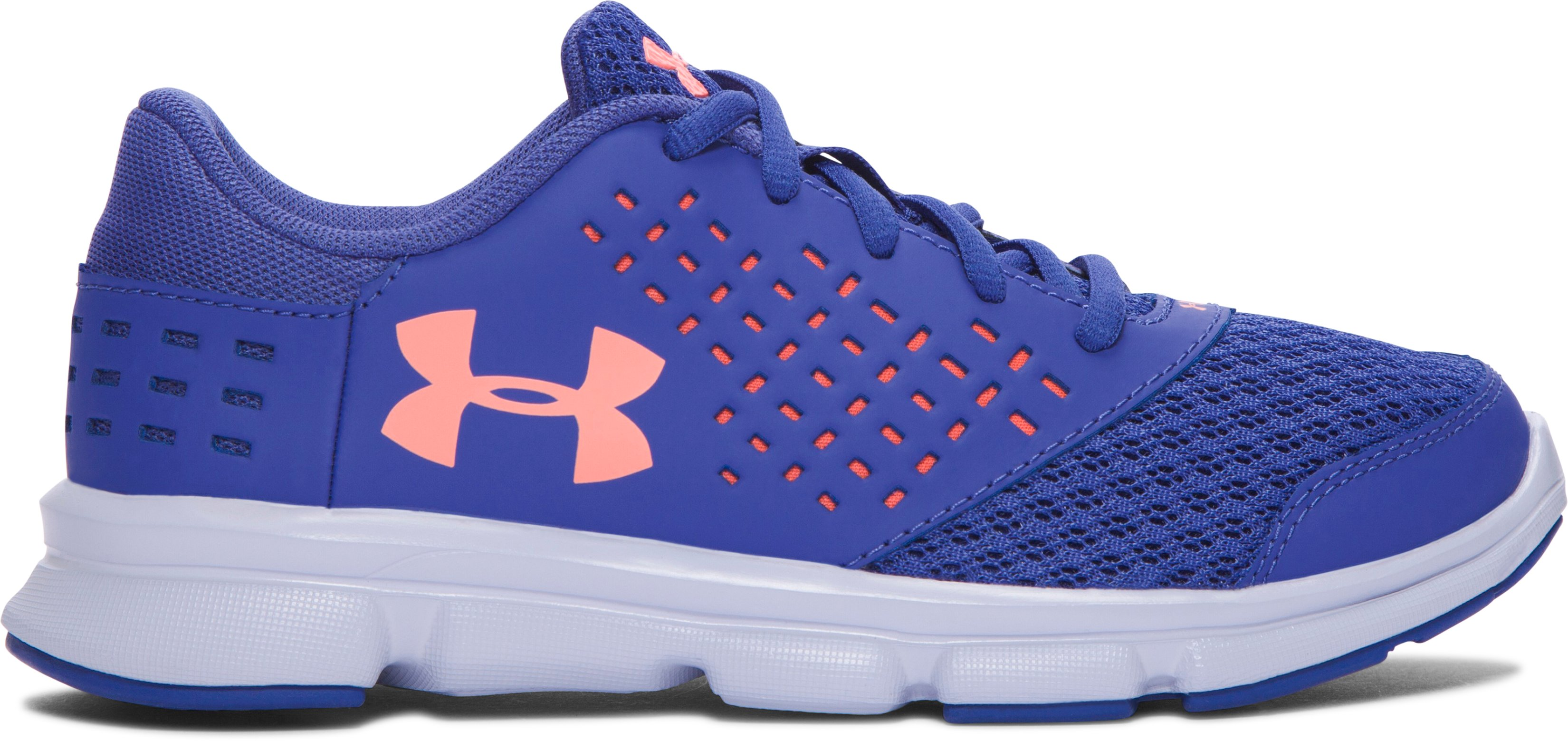 Girls' Pre-School UA Rave Running Shoes, DEEP PERIWINKLE