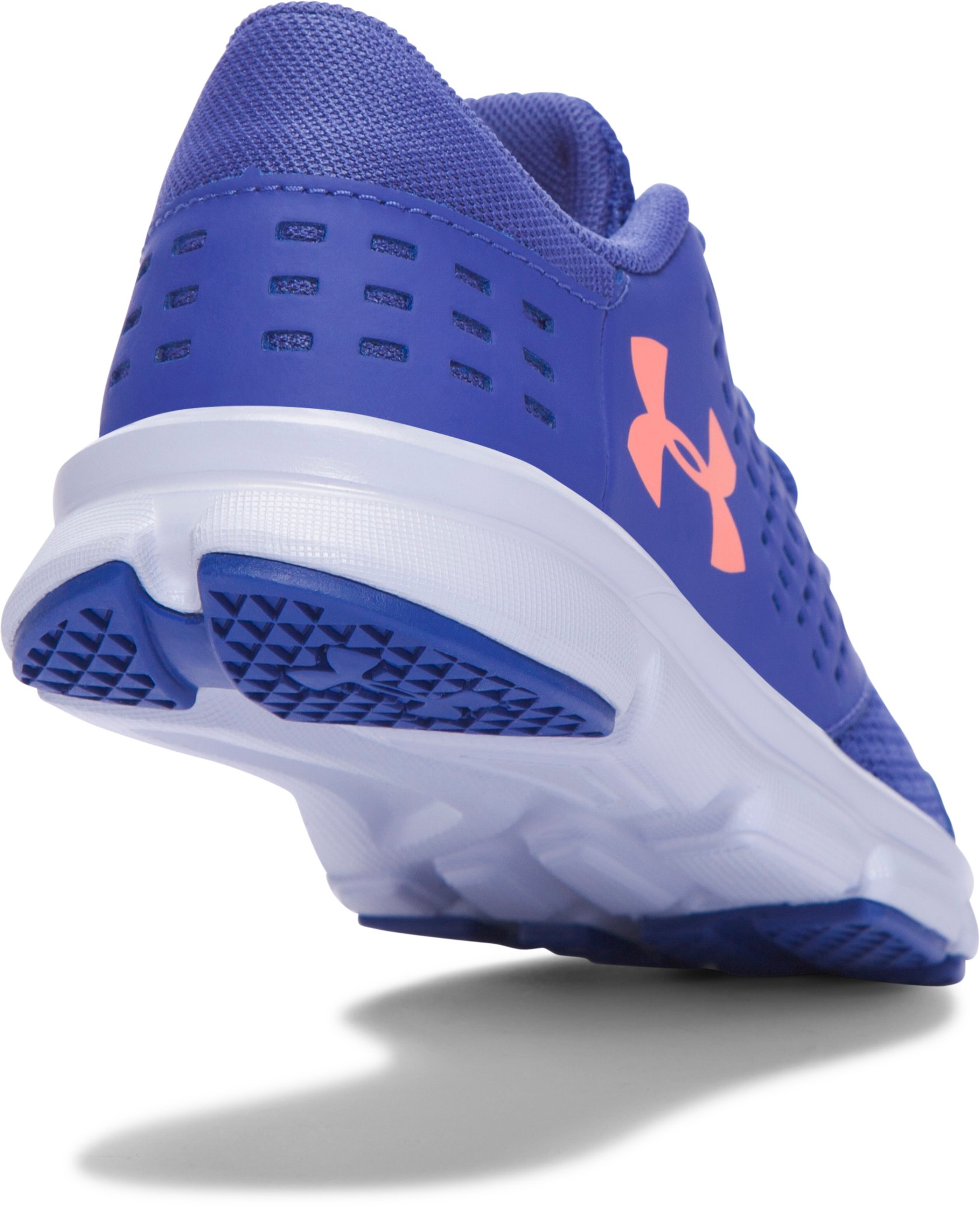 Girls' Pre-School UA Rave Running Shoes, DEEP PERIWINKLE,