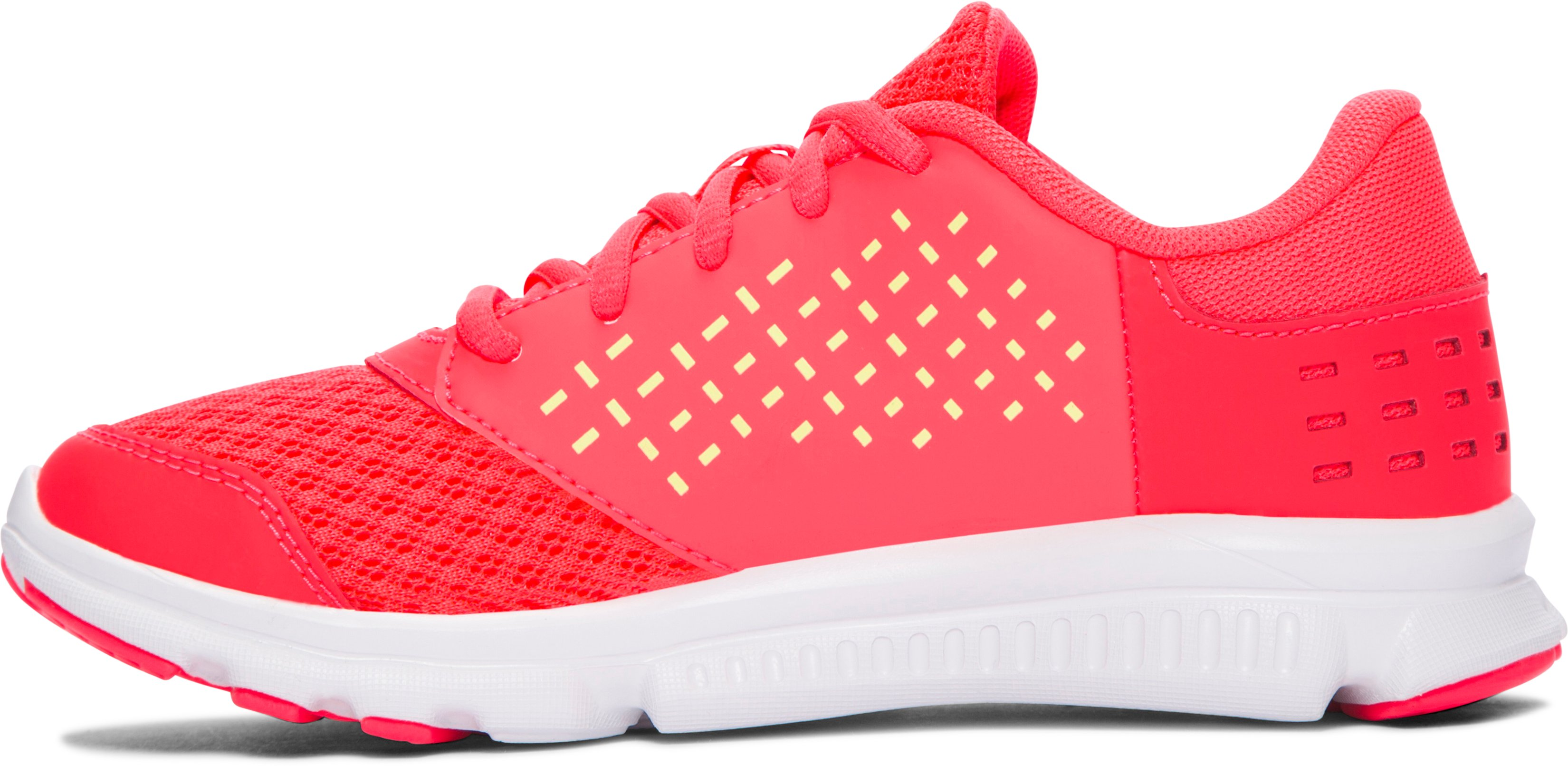Girls' Pre-School UA Rave Running Shoes, SIRENS CORAL, undefined