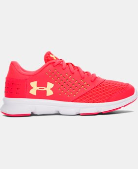 Girls' Pre-School UA Rave Running Shoes   $33.99