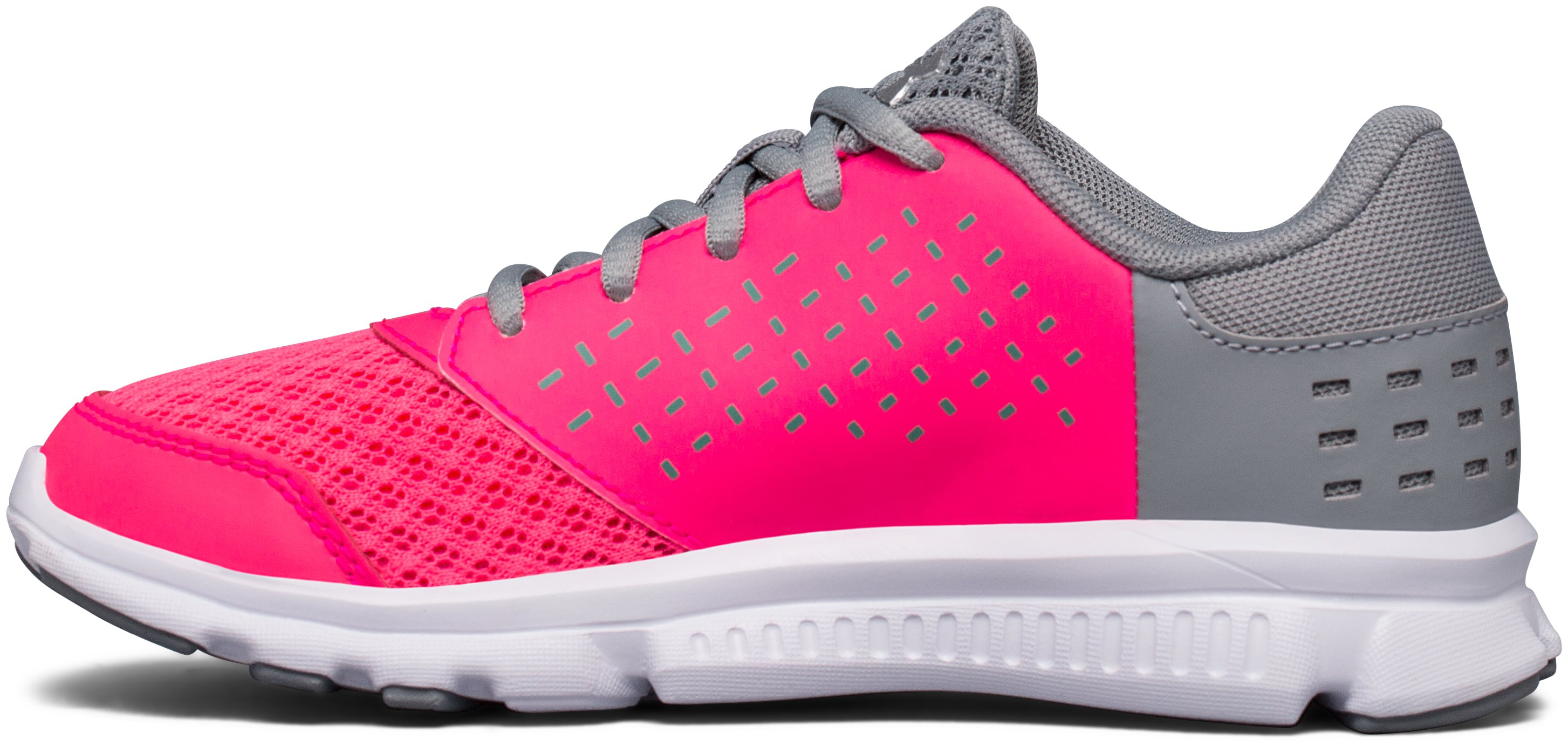 Girls' Pre-School UA Rave Running Shoes, PENTA PINK