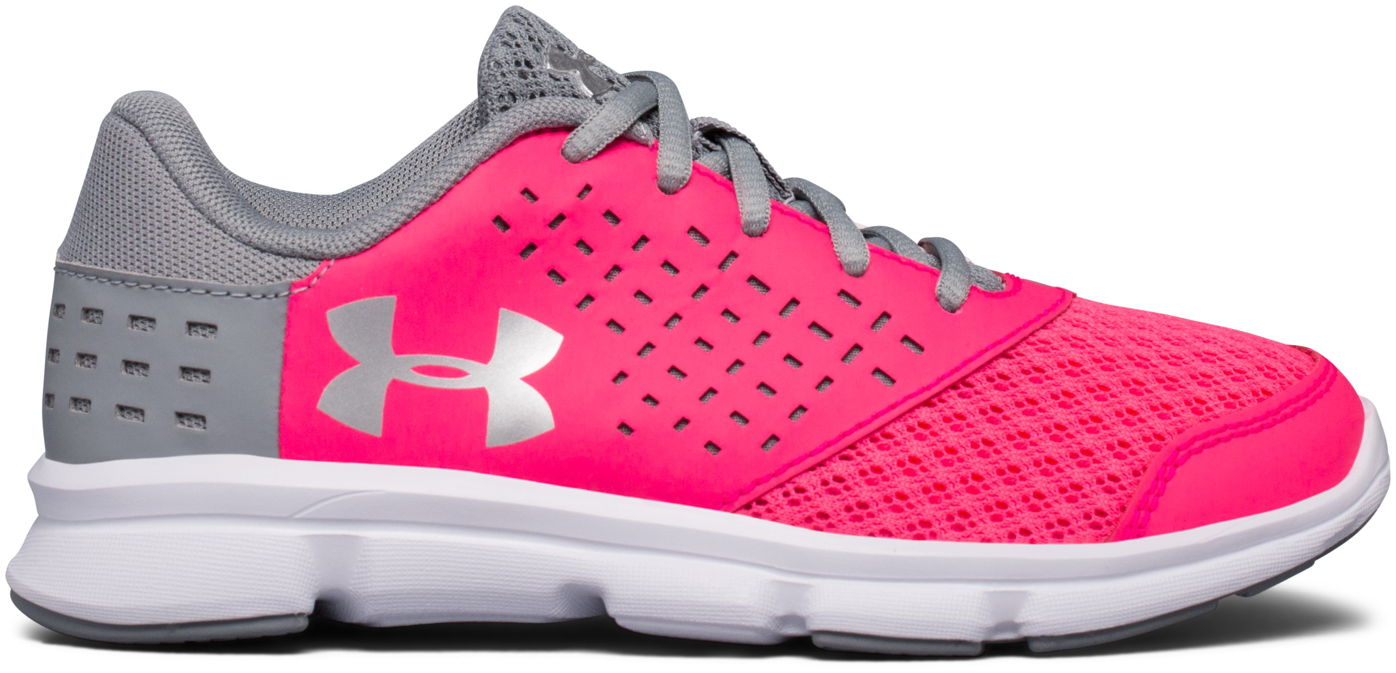 GIrls' Pre-School UA Rave Running Shoes, PENTA PINK, zoomed image