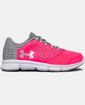 Girls' Pre-School UA Rave Running Shoes   $44.99