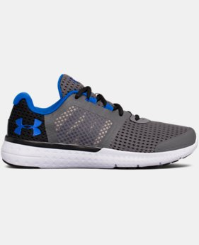 New to Outlet Boys' Grade School UA Micro G® Fuel Running Shoes LIMITED TIME OFFER  $48.74