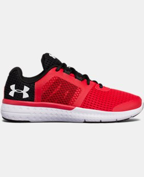 New to Outlet Boys' Grade School UA Micro G® Fuel Running Shoes LIMITED TIME OFFER 1 Color $48.74 to $599