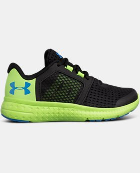 Boys' Pre-School UA Micro G® Fuel Running Shoes LIMITED TIME OFFER 1 Color $52.49