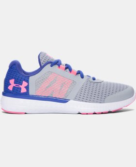 Best Seller Girls' Grade School UA Micro G® Fuel Running Shoes  10 Colors $64.99