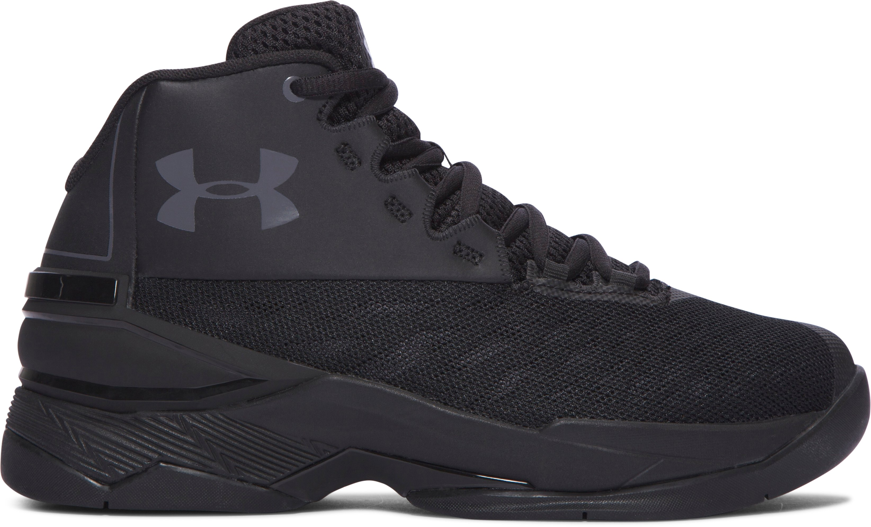 Boys' Grade School UA Longshot Basketball Shoes, Black