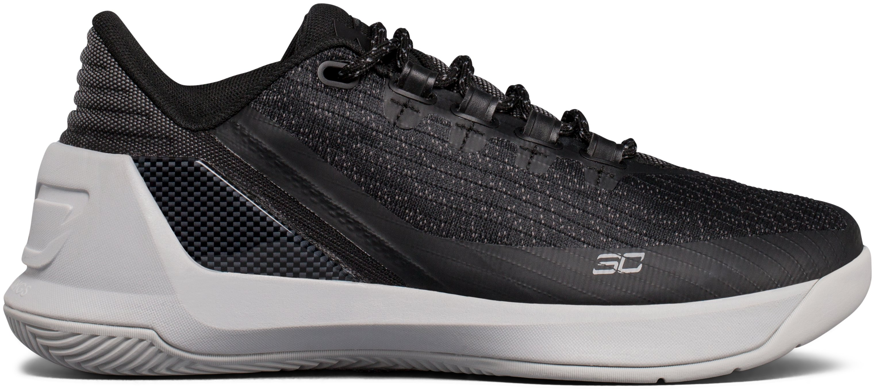 Boys' Grade School UA Curry 3 Low Basketball Shoes, Black