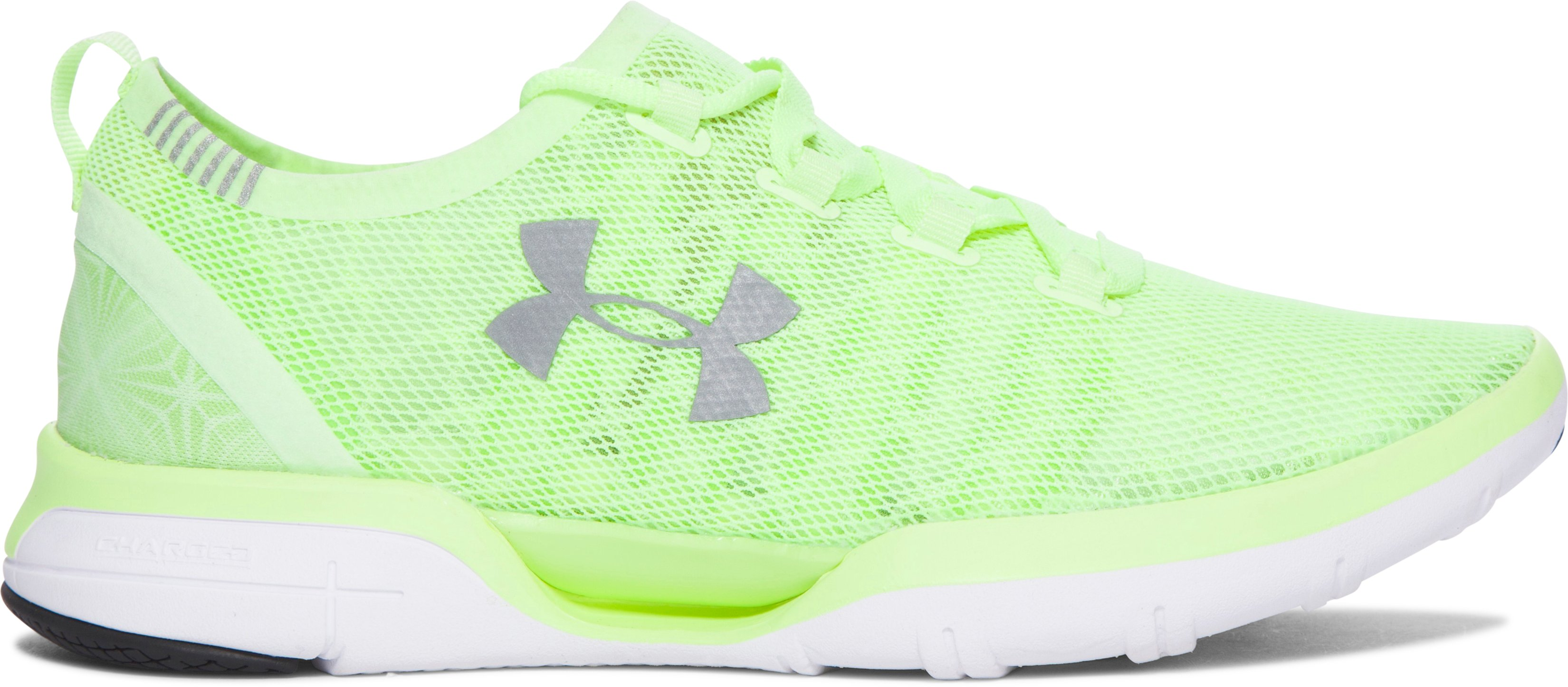 Women's UA Charged CoolSwitch Running Shoes, LIME FIZZ,