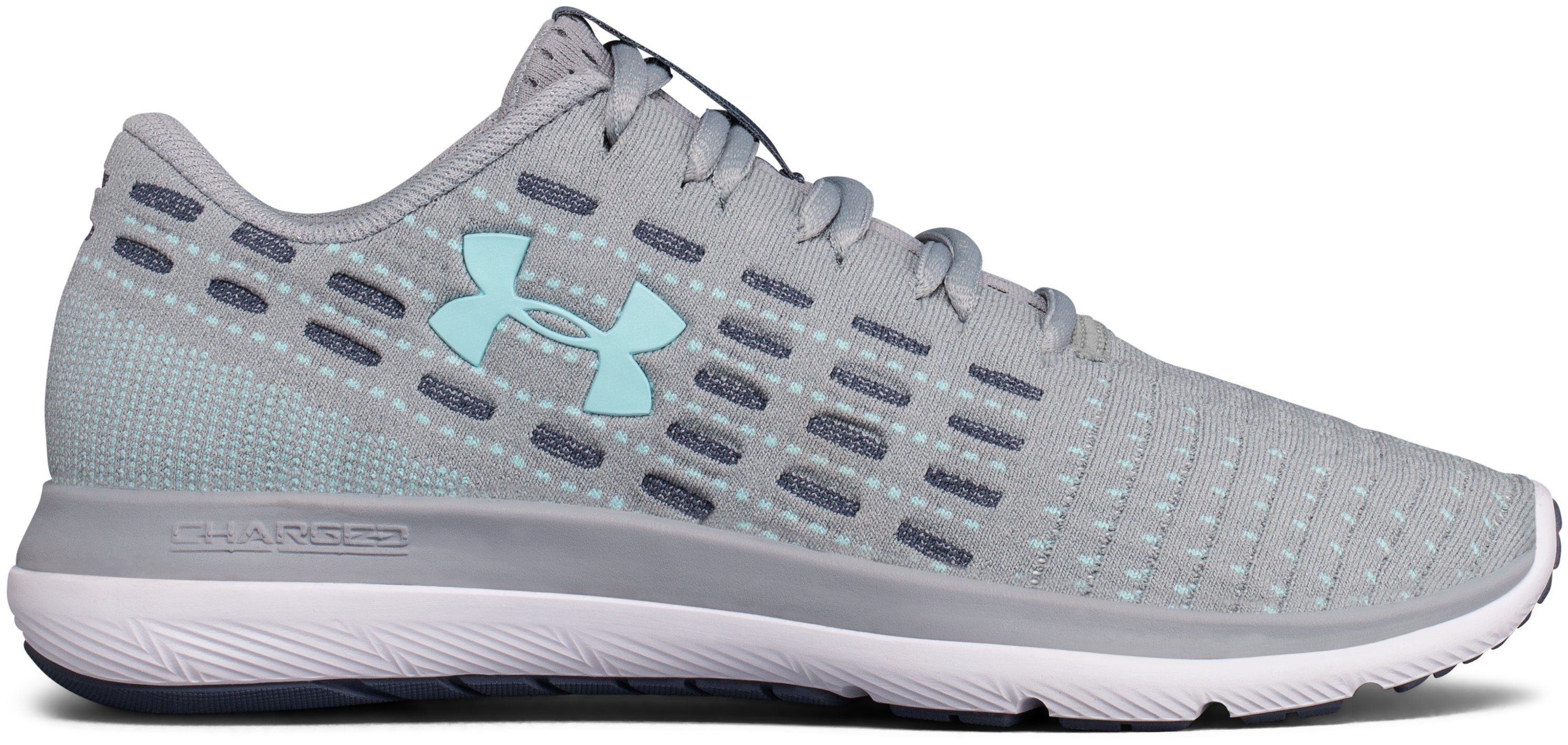 Women's UA Threadborne Slingflex Shoes, OVERCAST GRAY, zoomed image