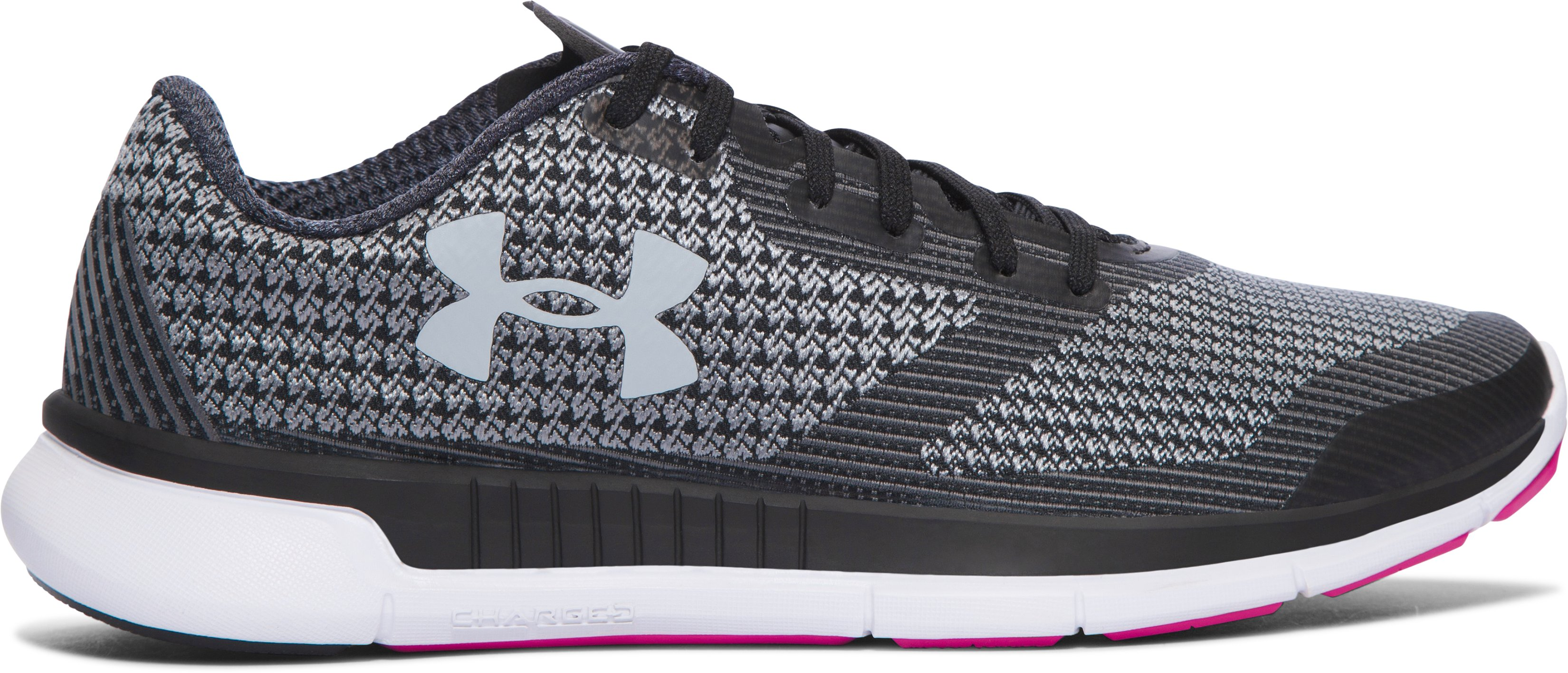 Women's UA Charged Lightning Running Shoes, Black