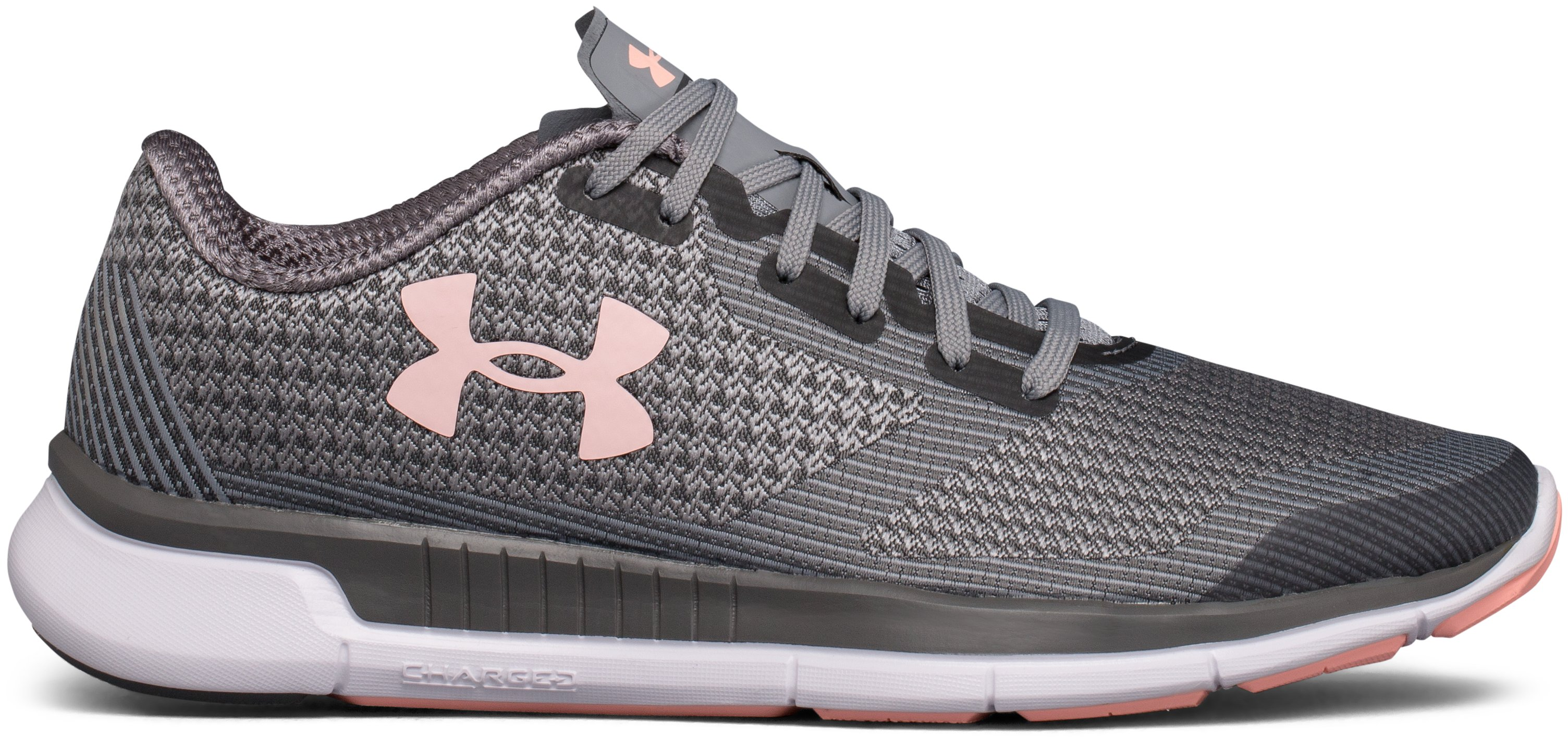 Women's UA Charged Lightning Running Shoes, RHINO GRAY