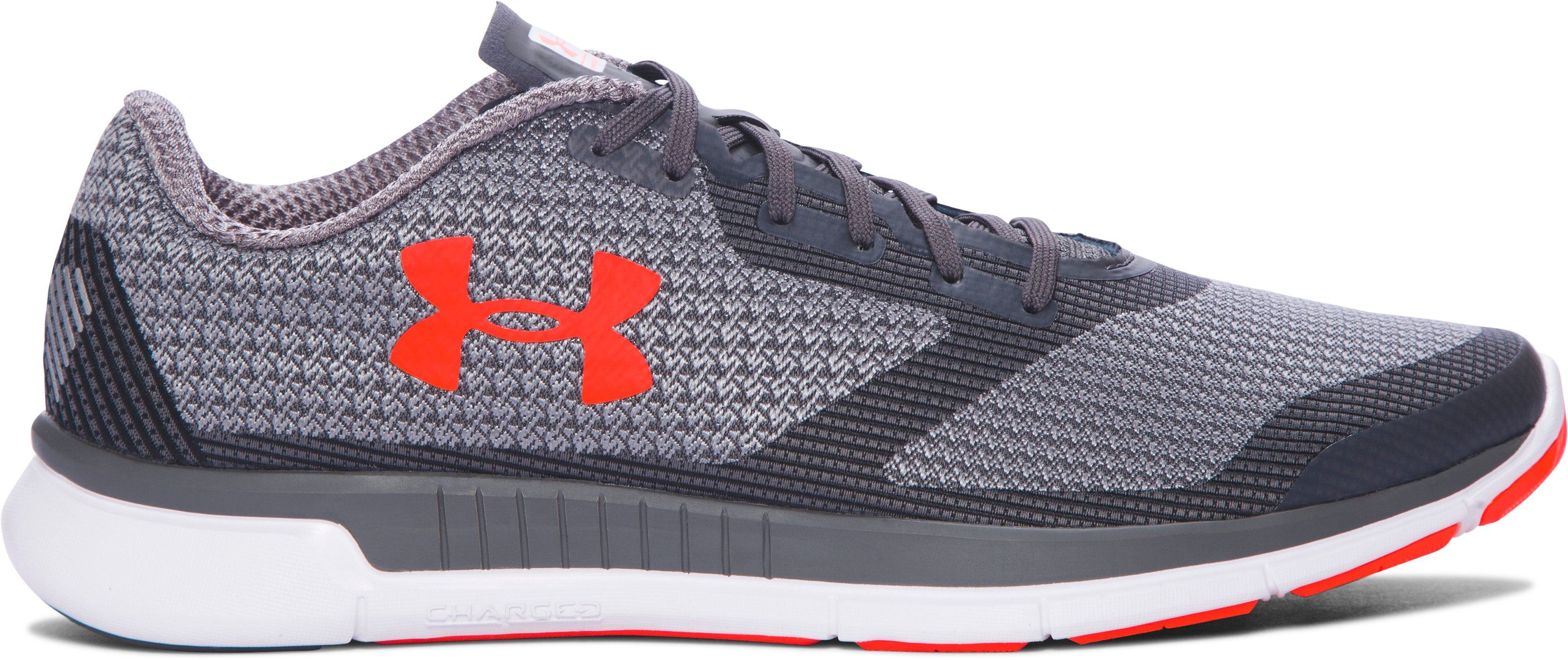 Men's UA Charged Lightning Running Shoes, RHINO GRAY