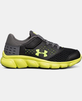 Best Seller Boys' Pre-School UA Micro G® Rave Adjustable Closure Running Shoes  1 Color $47.99