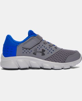 Best Seller Boys' Pre-School UA Micro G® Rave Adjustable Closure Running Shoes  1 Color $69.98