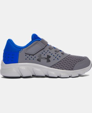New Arrival Boys' Pre-School UA Micro G® Rave Adjustable Closure Running Shoes  2 Colors $47.99