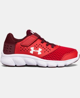 Boys' Pre-School UA Micro G® Rave Adjustable Closure Running Shoes LIMITED TIME OFFER 1 Color $44.99