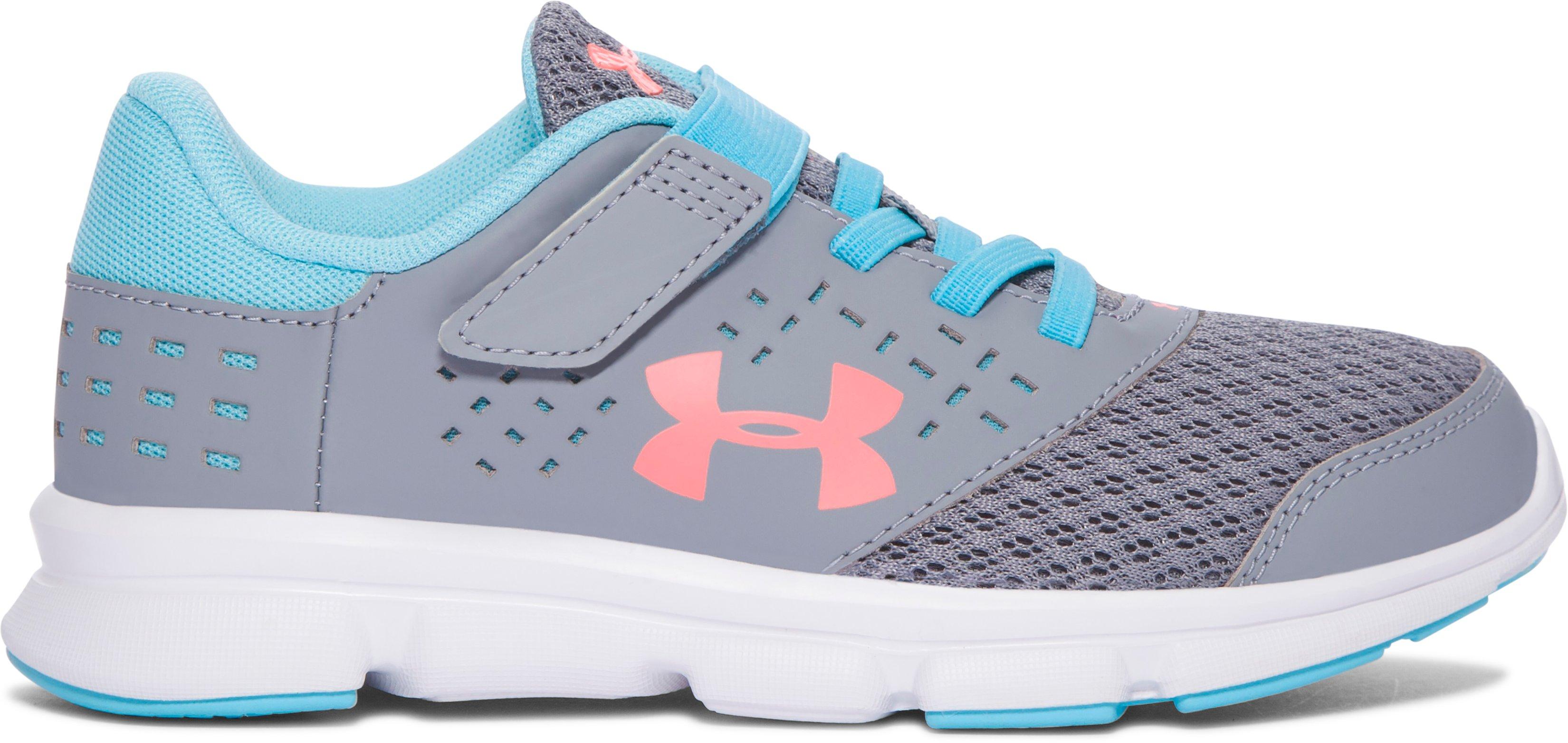 Zapatos de Running UA Rave con cierre alternativo para niña, 360 degree view