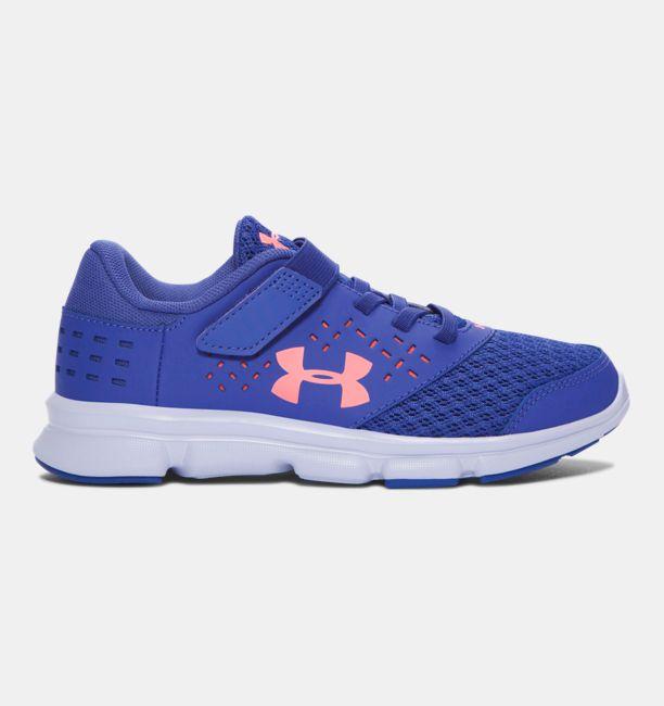 UA Rave - Chaussures de course à fermeture ajustable pour fille,  préscolaire   Under Armour CA a583edfde4ec