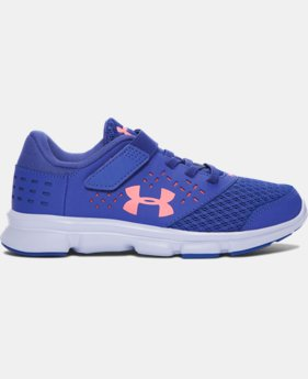 New to Outlet Girls' Pre-School UA Rave Adjustable Closure Running Shoes LIMITED TIME OFFER 3 Colors $35.99