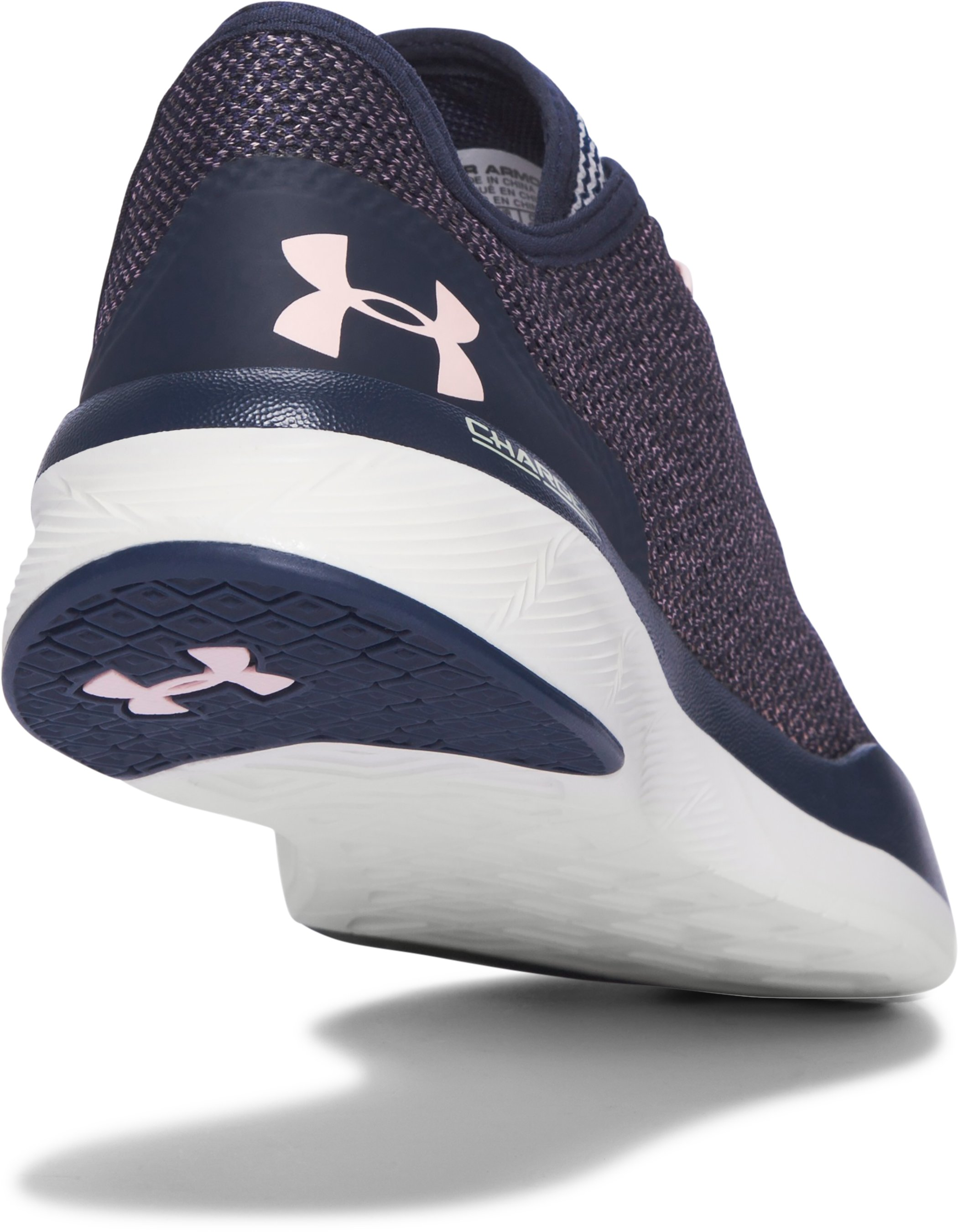 Women's UA Charged Push Hypersplice Training Shoes, Midnight Navy,