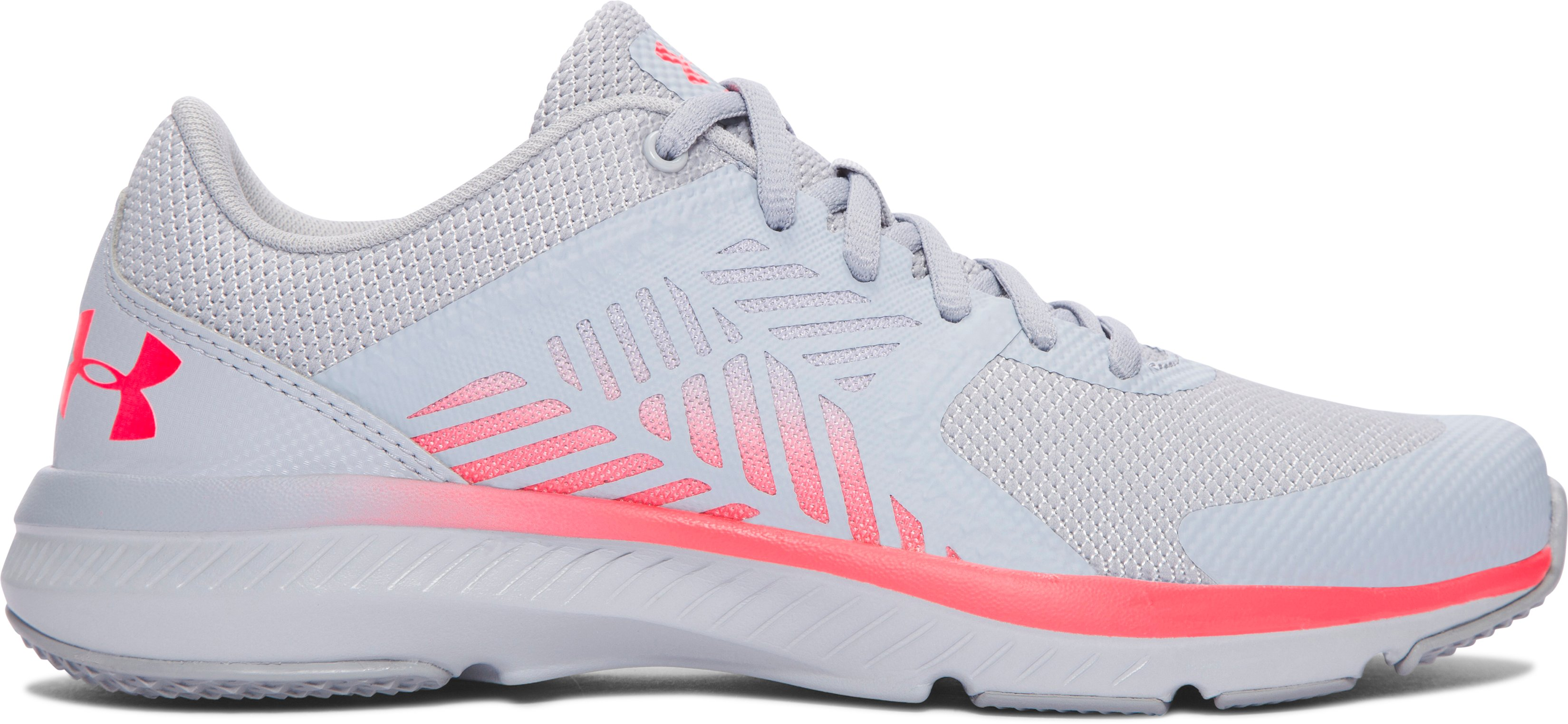 Women's UA Micro G® Press Printed Training Shoes, OVERCAST GRAY, zoomed image