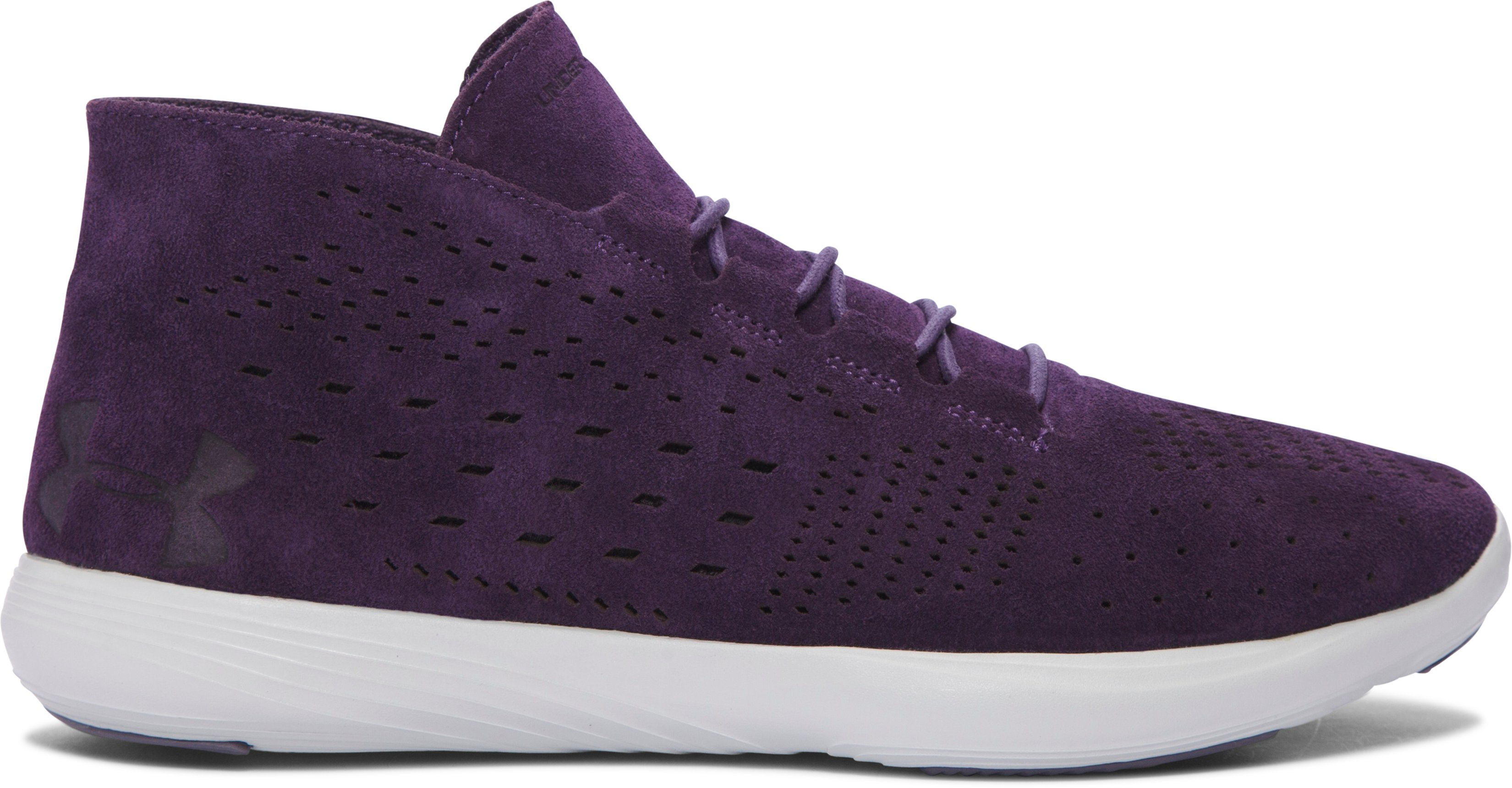 Women's UA Street Precision Mid Tinted Neutrals Shoes, IMPERIAL PURPLE