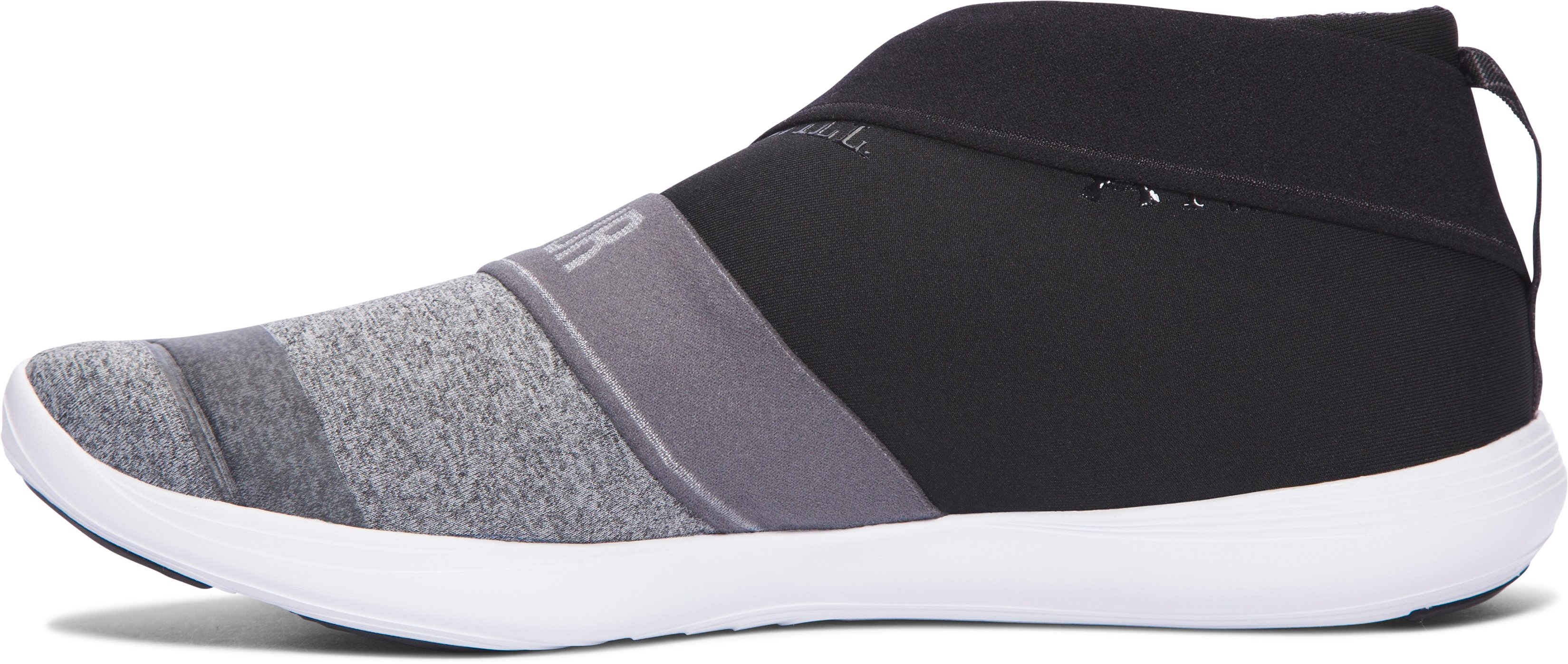 Women's UA Street Precision Slip On Color Blocked Shoes, GRAY WOLF,