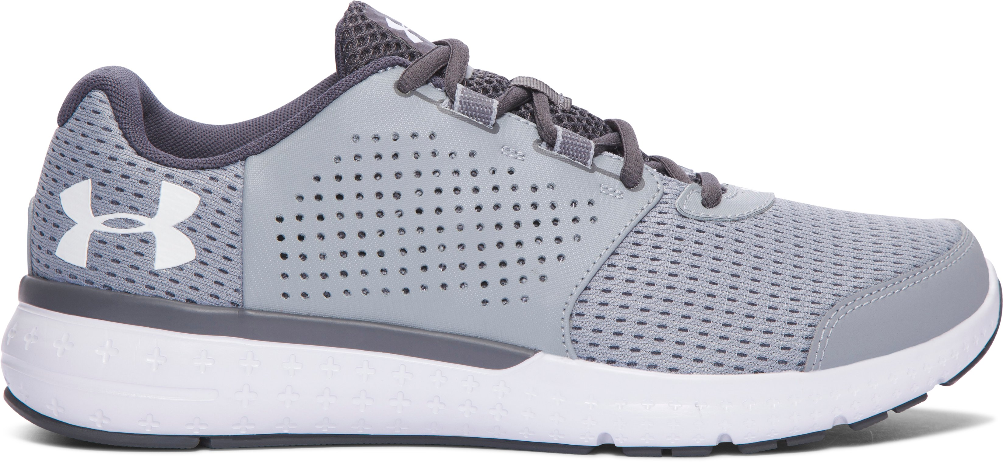 Men's UA Micro G® Fuel — 2E Running Shoes, OVERCAST GRAY