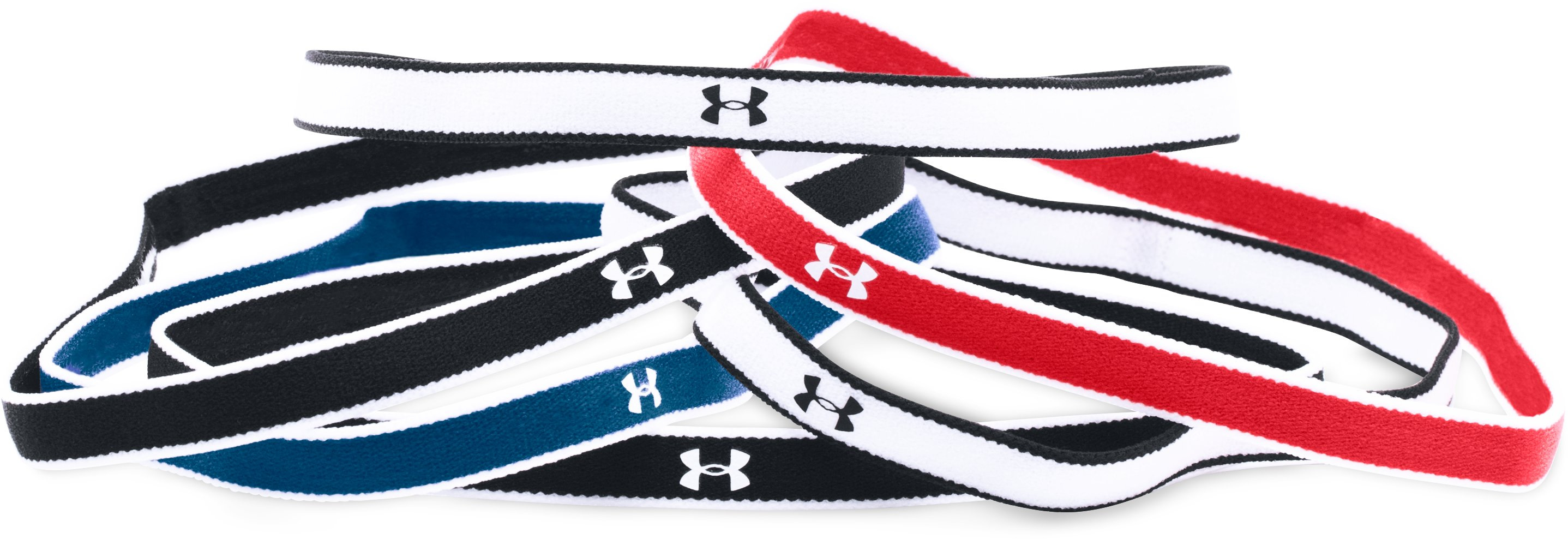 Women's UA Mini Headbands - 6 Pack, Red, zoomed image