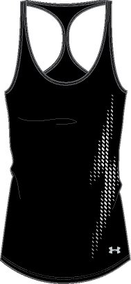 Women's UA Accelerate Graphic Tank 2, Black , undefined