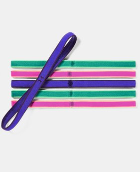 Girls' UA Mini Headbands – 6-Pack  3  Colors Available $9.99