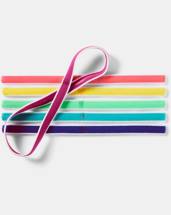 Girls' UA Mini Headbands - 6-Pack, Pink, pdpMainDesktop image number 1