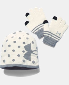 Girls' UA Beanie & Glove Combo Pack