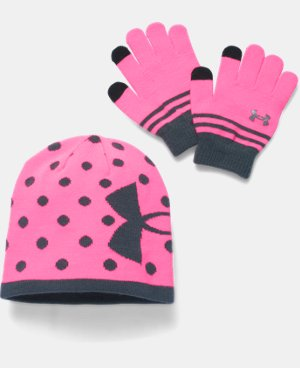 Girls' UA Beanie & Glove Combo Pack  1 Color $29.99