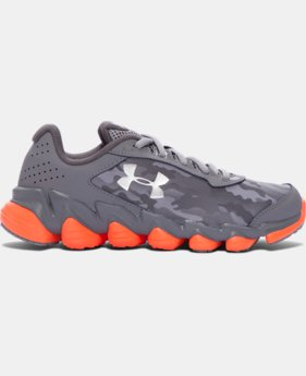 Boys' Grade School UA Spine™ Disrupt Camo Running Shoes