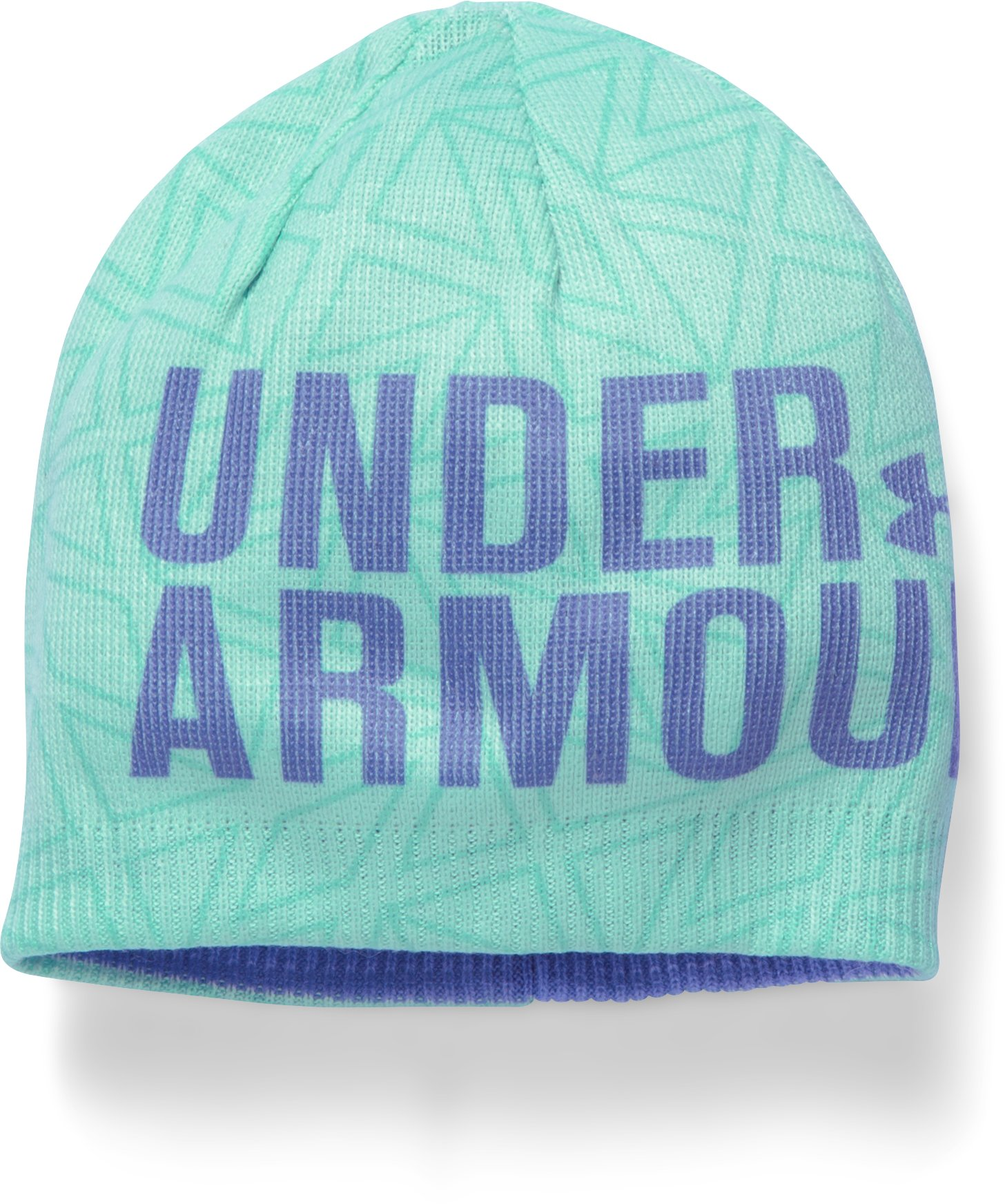 Girls' UA Graphic Beanie, CRYSTAL, zoomed image