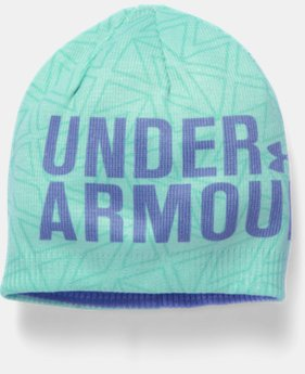 New Arrival  Girls' UA Graphic Beanie LIMITED TIME: FREE SHIPPING 1 Color $25.99