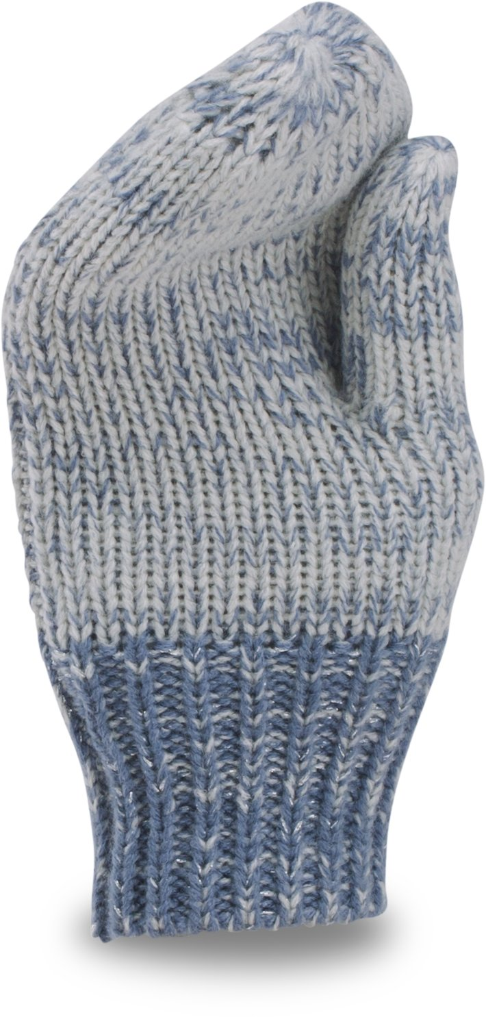 Girls' UA Shimmer Knit Mittens, GLACIER GRAY, undefined
