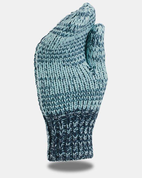 Girls' UA Shimmer Knit Mittens, Blue, pdpMainDesktop image number 1