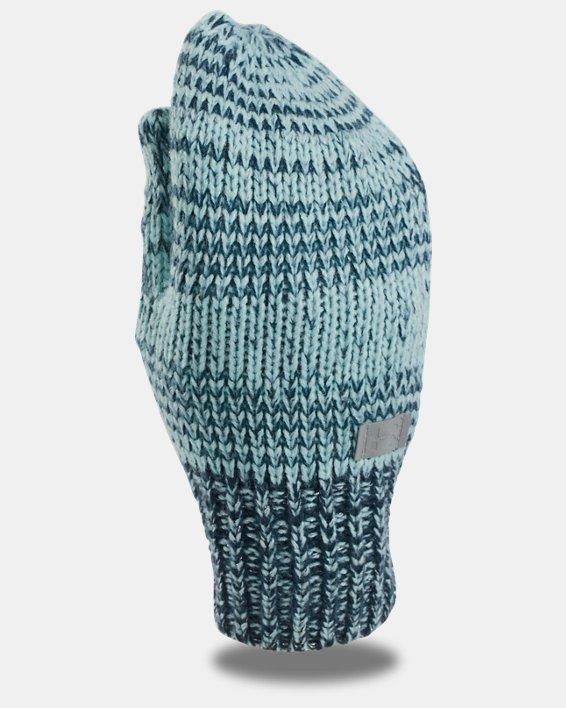 Girls' UA Shimmer Knit Mittens, Blue, pdpMainDesktop image number 0