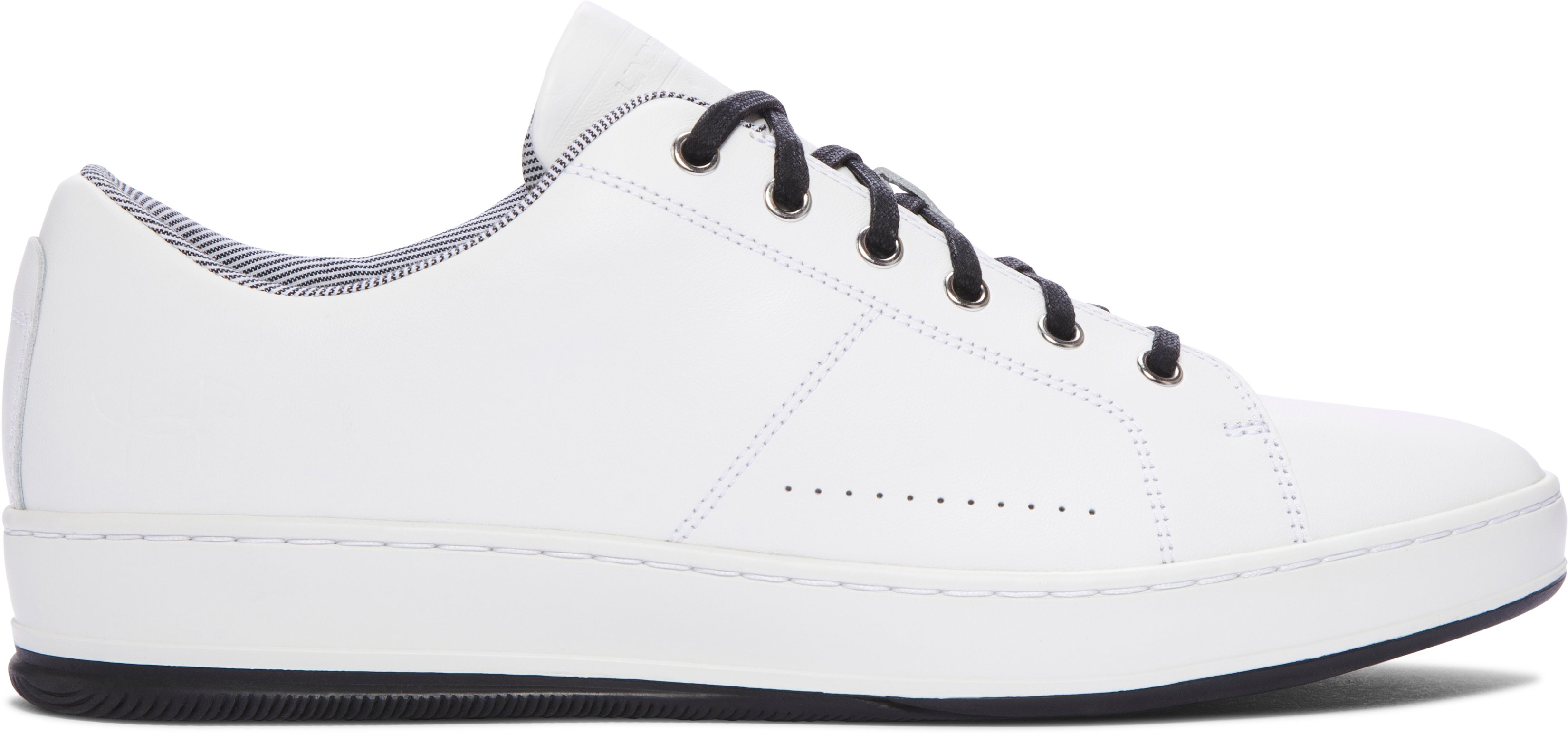 Men's UA Club Leather Shoes, White, zoomed image